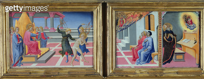 <b>Title</b> : The Dream of St. Jerome and the Apparition of St. Jerome to Sulpicius Severus and St. Augustine, 1444 (oil on panel)Additional I<br><b>Medium</b> : oil on panel<br><b>Location</b> : Louvre, Paris, France<br> - gettyimageskorea