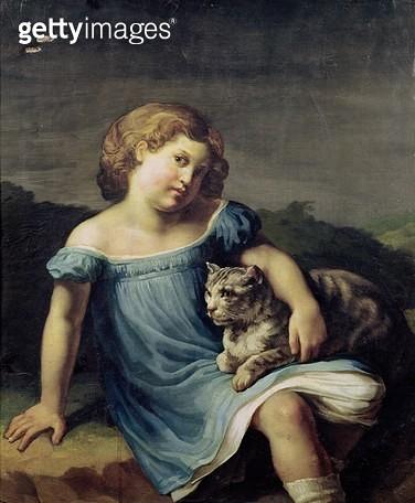 <b>Title</b> : Portrait of Louise Vernet as a Child, 1818-19 (oil on canvas)<br><b>Medium</b> : oil on canvas<br><b>Location</b> : Louvre, Paris, France<br> - gettyimageskorea