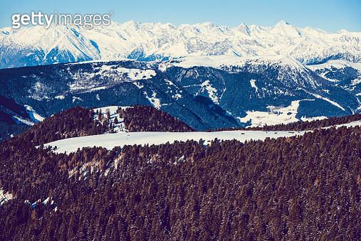 Snowy Alps Valley - gettyimageskorea