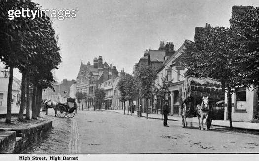 High Street, High Barnet, Barnet, Hertfordshire. - gettyimageskorea