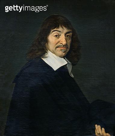 <b>Title</b> : Portrait of Rene Descartes (1596-1650) c.1649 (oil on canvas)<br><b>Medium</b> : oil on canvas<br><b>Location</b> : Louvre, Paris, France<br> - gettyimageskorea