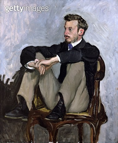 <b>Title</b> : Portrait of Auguste Renoir (1841-1919), 1867 (oil on canvas)<br><b>Medium</b> : oil on canvas<br><b>Location</b> : Musee d'Orsay, Paris, France<br> - gettyimageskorea