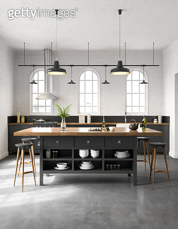 Industrial kitchen interior - gettyimageskorea