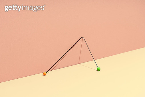 still life with stick and colored marbles symbolizing choice - gettyimageskorea