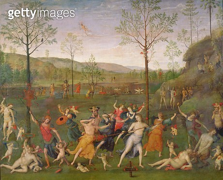 <b>Title</b> : The Battle of Love and Chastity, after 1503 (oil on canvas)Additional InfoLe Combat de l'Amour et de la Chastete;<br><b>Medium</b> : oil on canvas<br><b>Location</b> : Louvre, Paris, France<br> - gettyimageskorea