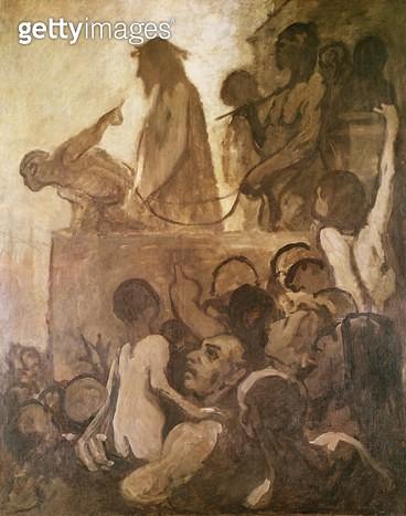 <b>Title</b> : Ecce Homo, c.1848-52 (oil on canvas)<br><b>Medium</b> : oil on canvas<br><b>Location</b> : Museum Folkwang, Essen, Germany<br> - gettyimageskorea