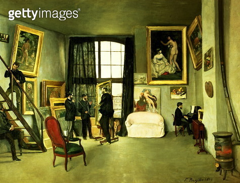 The artist's studio, 1870 - gettyimageskorea