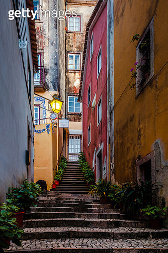 Small village with Moorish architecture in Portugal - gettyimageskorea