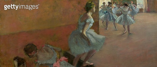 <b>Title</b> : Dancers Ascending a Staircase, c.1886-88 (oil on canvas)<br><b>Medium</b> : oil on canvas<br><b>Location</b> : Musee d'Orsay, Paris, France<br> - gettyimageskorea