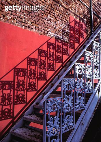 Iron Staircase. Key West. Florida. USA. - gettyimageskorea