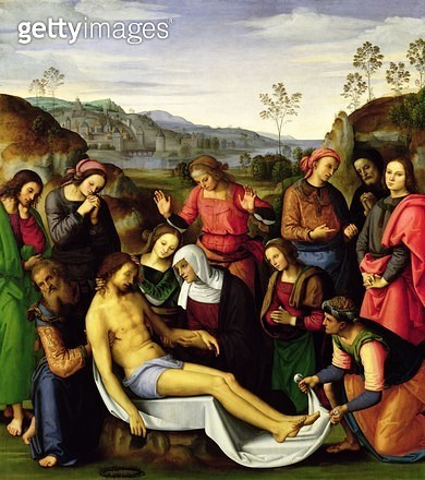 <b>Title</b> : The Lamentation of Christ, 1495 (oil on panel)<br><b>Medium</b> : oil on panel<br><b>Location</b> : Palazzo Pitti, Florence, Italy<br> - gettyimageskorea