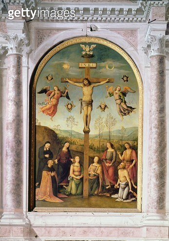<b>Title</b> : Crucifixion (altarpiece)<br><b>Medium</b> : <br><b>Location</b> : <br> - gettyimageskorea