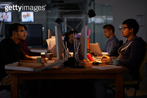 Burning the midnight oil - gettyimageskorea