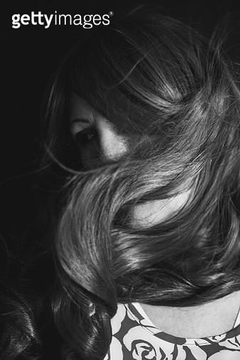 Wind in woman's hair - gettyimageskorea