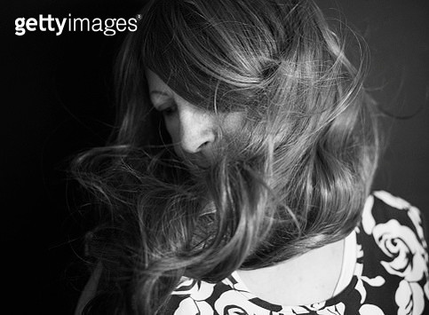Black and white portrait of a senior woman - gettyimageskorea