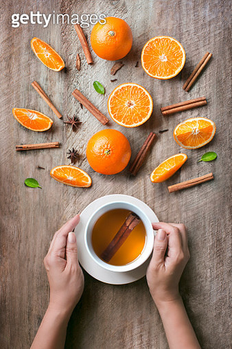 Orange and Cinnamon Tea - gettyimageskorea