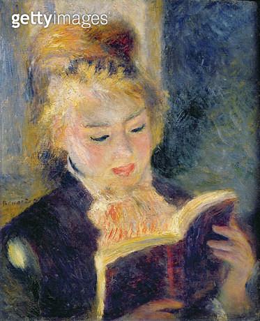 <b>Title</b> : Girl Reading, 1874 (oil on canvas)<br><b>Medium</b> : oil on canvas<br><b>Location</b> : Musee d'Orsay, Paris, France<br> - gettyimageskorea