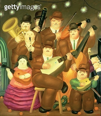 <b>Title</b> : The Musicians, 1979 (oil on canvas)<br><b>Medium</b> : oil on canvas<br><b>Location</b> : Private Collection<br> - gettyimageskorea