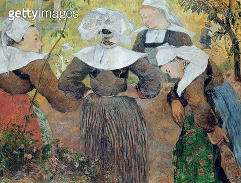 <b>Title</b> : Four Breton Women, 1886 (oil on canvas)<br><b>Medium</b> : oil on canvas<br><b>Location</b> : Staatsgalerie Moderner Kunst, Munich, Germany<br> - gettyimageskorea