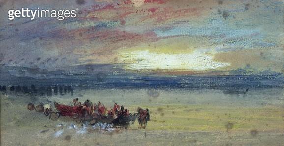 <b>Title</b> : Shore Scene, Sunset<br><b>Medium</b> : <br><b>Location</b> : Victoria & Albert Museum, London, UK<br> - gettyimageskorea