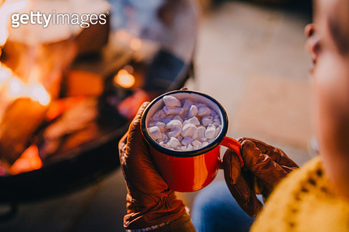 Keeping Warm with Hot Chocolate - gettyimageskorea