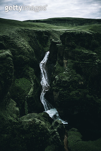 A waterfall in Iceland - gettyimageskorea