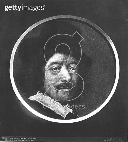 <b>Title</b> : Self portrait (oil on canvas) (b/w photo)<br><b>Medium</b> : oil on canvas<br><b>Location</b> : Frans Hals Museum, Haarlem, The Netherlands<br> - gettyimageskorea