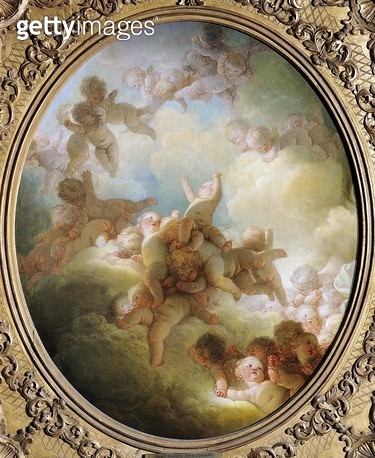 <b>Title</b> : The Swarm of Cupids, c.1767 (oil on canvas)<br><b>Medium</b> : oil on canvas<br><b>Location</b> : Louvre, Paris, France<br> - gettyimageskorea
