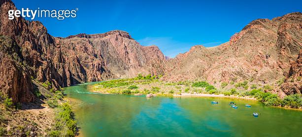Grand Canyon rafting down the Colorado River Phantom Ranch Arizona - gettyimageskorea