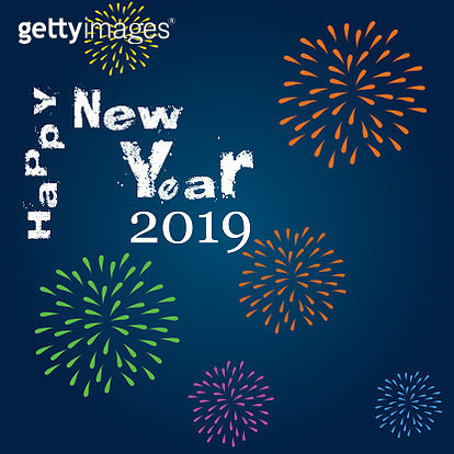 Happy New Year background with fireworks - gettyimageskorea