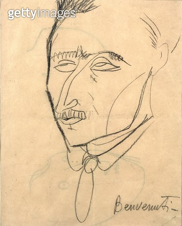 <b>Title</b> : Aristide Sommati, c.1908 (charcoal on paper)<br><b>Medium</b> : charcoal on paper<br><b>Location</b> : Museo Civico Fattori, Livorno, Italy<br> - gettyimageskorea