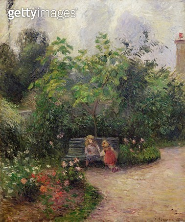 <b>Title</b> : A Corner of the Garden at the Hermitage, Pontoise, 1877 (oil on canvas)<br><b>Medium</b> : oil on canvas<br><b>Location</b> : Musee d'Orsay, Paris, France<br> - gettyimageskorea