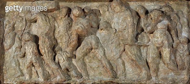 <b>Title</b> : The Emigrants, 1848 (plaster)<br><b>Medium</b> : plaster<br><b>Location</b> : Musee d'Orsay, Paris, France<br> - gettyimageskorea
