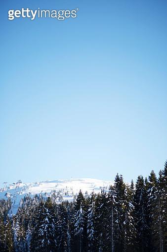 Mountain in snow - gettyimageskorea