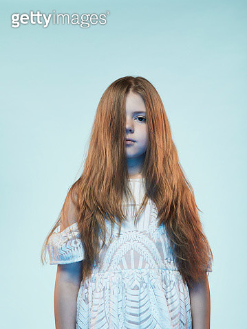 Portrait of a caucasian redhead young girl - gettyimageskorea