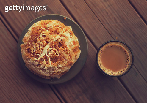 Bangladeshi rice cake vapa pitha and chai - gettyimageskorea