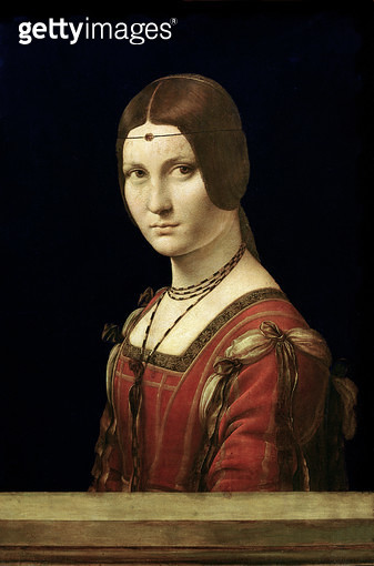 <b>Title</b> : Portrait of a Lady from the Court of Milan, c.1490-95 (oil on panel)<br><b>Medium</b> : oil on panel<br><b>Location</b> : Louvre, Paris, France<br> - gettyimageskorea