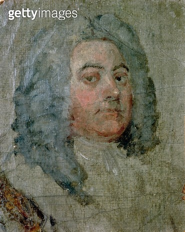 <b>Title</b> : Portrait of George Frederick Handel (1685-1759) (oil on canvas)<br><b>Medium</b> : <br><b>Location</b> : Burghley House Collection, Lincolnshire, UK<br> - gettyimageskorea