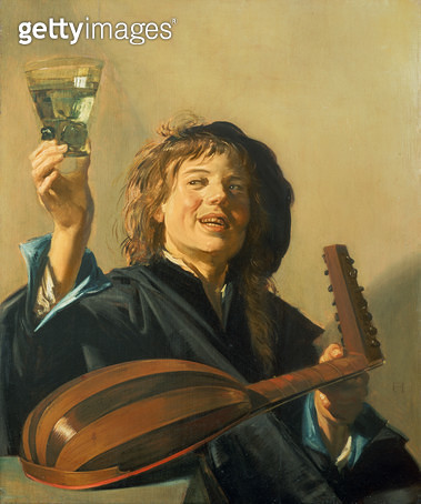 <b>Title</b> : The Merry Lute Player<br><b>Medium</b> : oil on canvas<br><b>Location</b> : Harold Samuel Collection, City of London<br> - gettyimageskorea