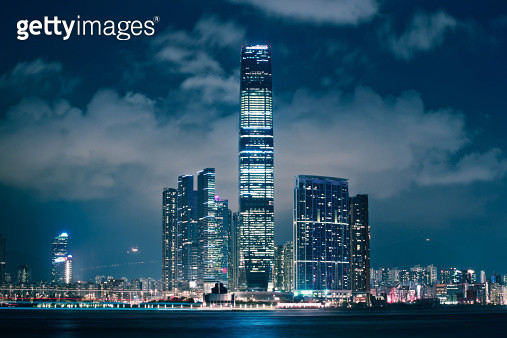 International Commerce Centre ICC at night - gettyimageskorea