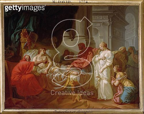 <b>Title</b> : Antiochus and Stratonice, 1774 (oil on canvas)<br><b>Medium</b> : oil on canvas<br><b>Location</b> : Ecole Nationale Superieure des Beaux-Arts, Paris, France<br> - gettyimageskorea