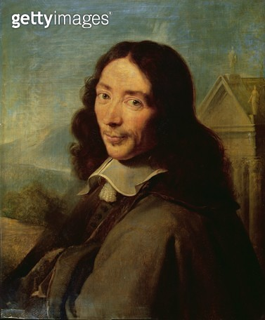 <b>Title</b> : Claude Perrault (1613-88) after Philippe de Champaigne (oil on canvas)Additional Infodesigner of the eastern facade of the Louvr<br><b>Medium</b> : <br><b>Location</b> : Academie des Sciences, Paris, France<br> - gettyimageskorea