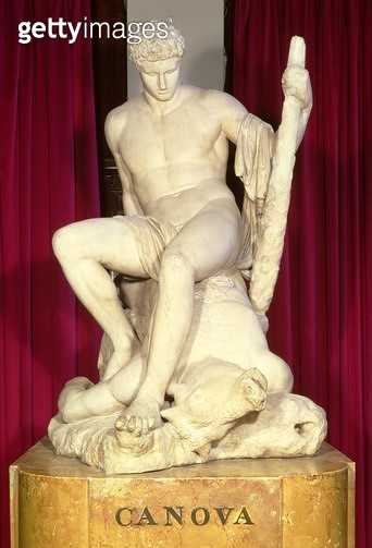 <b>Title</b> : Theseus and the Minotaur by Antonio Canova (1757-1822) (marble)<br><b>Medium</b> : marble<br><b>Location</b> : Victoria & Albert Museum, London, UK<br> - gettyimageskorea
