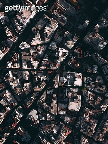Aerial View Of Buildings In City - gettyimageskorea