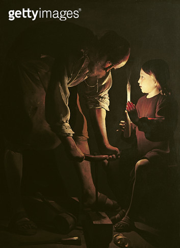 <b>Title</b> : St. Joseph, the Carpenter, c.1640 (oil on canvas)<br><b>Medium</b> : oil on canvas<br><b>Location</b> : Louvre, Paris, France<br> - gettyimageskorea