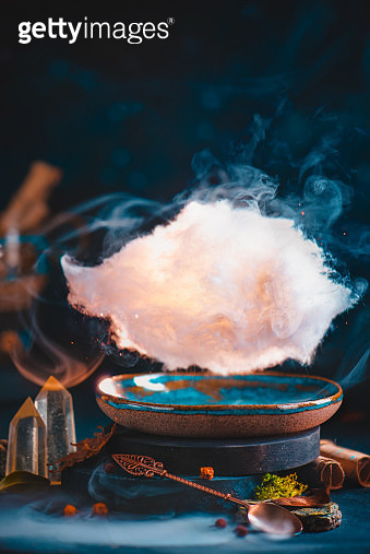 Cloud above a handmade ceramic cup, creative food photography - gettyimageskorea