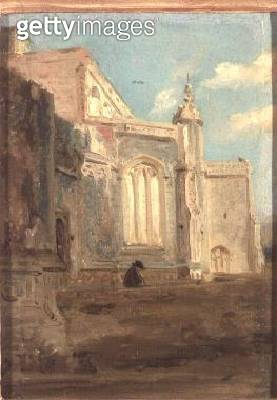 <b>Title</b> : East Bergholt Church<br><b>Medium</b> : oil on canvas<br><b>Location</b> : Private Collection<br> - gettyimageskorea