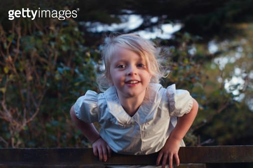 proud little climbing girl - gettyimageskorea