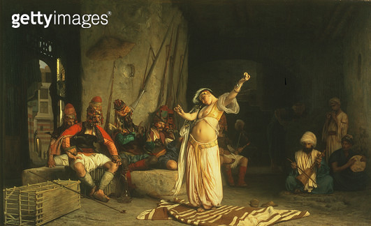 <b>Title</b> : The Dance of the Almeh, 1863 (oil on panel)<br><b>Medium</b> : oil on panel<br><b>Location</b> : The Dayton Art Institute, Dayton, Ohio, USA<br> - gettyimageskorea