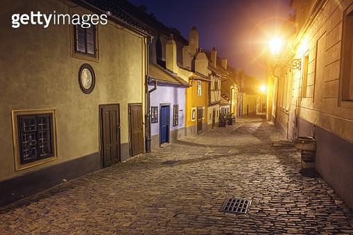 Golden Lane, the famous medieval street in Prague, Czech Republic - gettyimageskorea